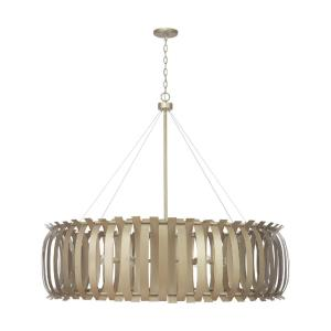 Cayden - Chandelier 12 Light Aged Brass Painted Metal - in Modern style - 48 high by 48 wide