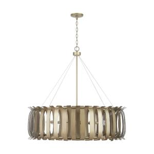 Cayden Chandelier 8 Light Aged Brass Painted Metal