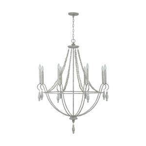 Chandelier 8 Light Mystic Sand Metal