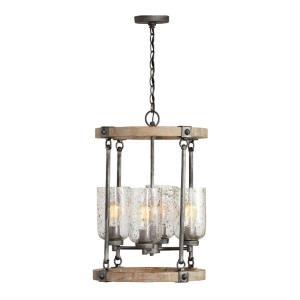 Nolan Chandelier 4 Light Urban Wash Metal/Wood