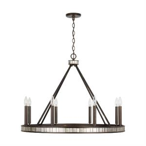 Chaucer Chandelier 8 Light Buffed Bronze Metal