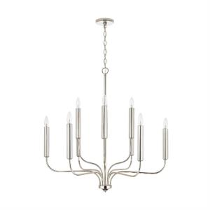 Della - Chandelier 10 Light Polished Nickel Metal - in Transitional style - 33 high by 34 wide