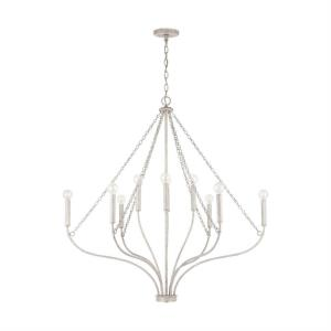 Chandelier 10 Light Mystic Sand Metal - in Transitional style - 39.5 high by 40.75 wide