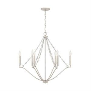 Chandelier 6 Light Mystic Sand Metal/Glass/Crystal