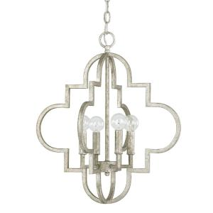 Ellis - 20.25 Inch 4 Light Pendant - in Transitional style - 18 high by 20.25 wide