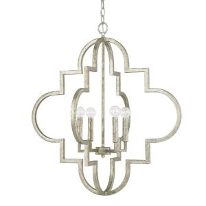Ellis - 28.25 Inch 4 Light Pendant - in Transitional style - 26 high by 28.25 wide