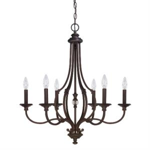 Leigh Chandelier 6 Light Burnished Bronze