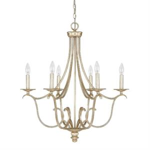Bailey Chandelier 6 Light Winter Gold