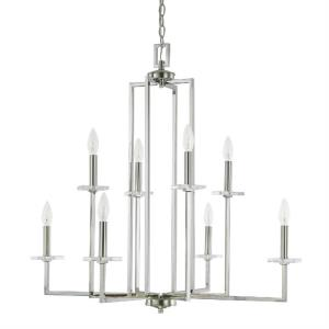 Morgan - Chandelier 3 Light Polished Nickel  - in Transitional style - 33 high by 31.5 wide