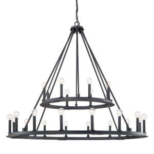 Pearson Chandelier 24 Light Black Iron Steel