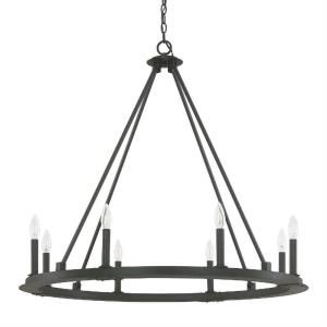 Pearson Chandelier 8 Light Black Iron
