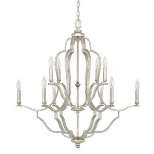 Blair - Chandelier 10 Light Antique Silver  - in Transitional style - 33 high by 34.5 wide
