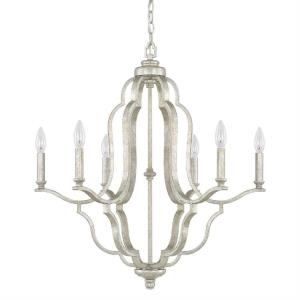 Blair - Chandelier 6 Light Antique Silver - in Transitional style - 27 high by 28.5 wide