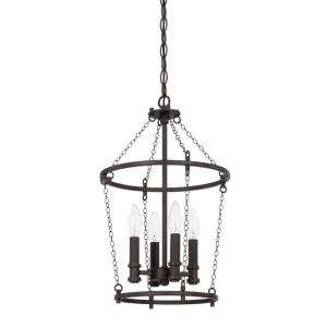 Lancaster - 11.75 Inch 4 Light Foyer - in Industrial style - 11.75 high by 19.5 wide
