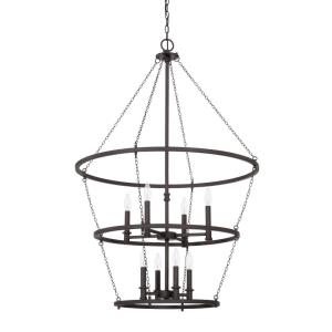 Lancaster - 8 Light 2-Tier Foyer - in Industrial style - 30 high by 45 wide