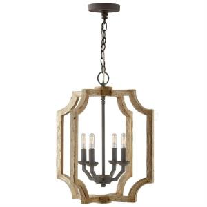 21.5 Inch 4 Light Foyer