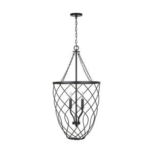 Sonnet - 38.75 Inch 4 Light Foyer - in Transitional style - 20 high by 38.75 wide