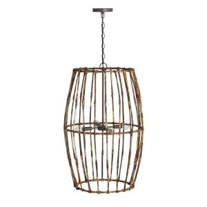 Sanibel - 4 Light Foyer - in Urban/Industrial/Artisan/Global/Coastal/Bohemian/Mixed Materials style - 19.5 high by 33 wide