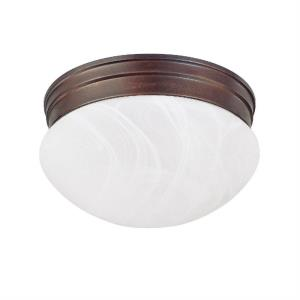 5 Inch 2 Light Flush Mount - in Transitional style - 9 high by 5 wide