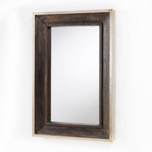 36 Inch Rectangular Decorative Wooden Mirror - in Industrial style - 24 high by 36 wide