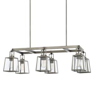 Kenner - 6 Light Island - in Industrial style - 39.5 high by 63.5 wide