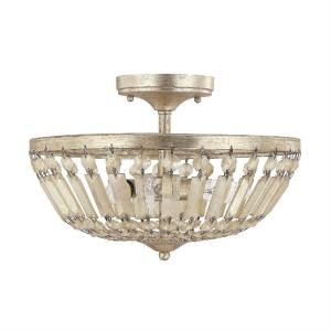 Fifth Avenue - 14 Inch 3 Light Semi-Flush Mount
