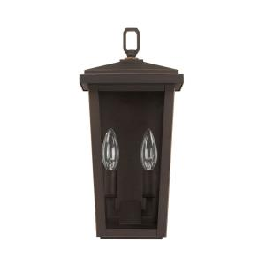 "Donnelly - 14.75"" Two Light Outdoor Wall Lantern"