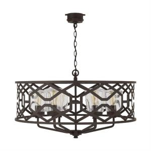 "32"" 6 Light Outdoor Chandelier"