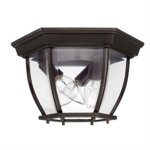 11 Inch 3 Light Outdoor Flush Mount - in Urban/Industrial style - 11 high by 6.5 wide