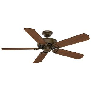 Panama - 5 Blade 54 Inch Ceiling Fan with Wall Control in Rustic Farmhouse Style and includes 5 Motor Speed settings