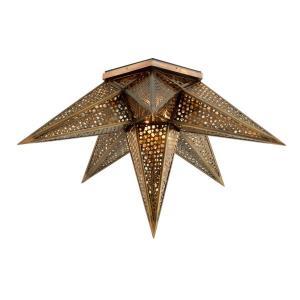 Star Of The East - Two Light Semi-Flush Mount