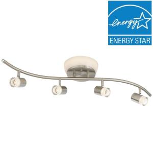 """DF Pro - 31.2"""" 30.1W 1 3000K LED 4-Head S-Bar Track and Flush Mount Combo"""