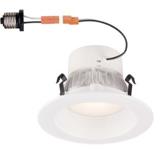 "DF Pro - 4"" 9.6W 1 2700K LED Deep Baffle Recessed Trim Light"