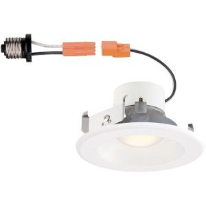 """DF Pro - 4"""" 9W 1 3000K LED Remodel Recessed Trim Light with Changeable Trim Ring"""