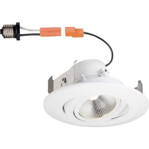 "DF Pro - 4"" 9W 1 3000K LED Remodel Directional Gimbal Recessed Trim Light"