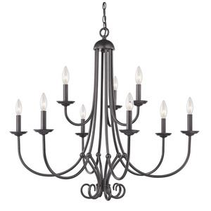 Williamsport - Nine Light 2-Tier Chandelier