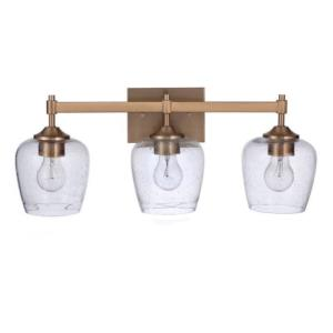 Stellen 3 Light Transitional Bath Vanity Approved for Damp Locations