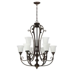 Barrett Place - Nine Light 2-Tier Chandelier