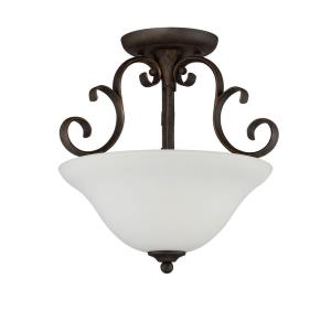 Barrett Place - Three Light Semi-Flush Mount
