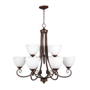 Raleigh - Nine Light 2-Tier Chandelier - 31 inches wide by 31.13 inches high