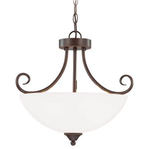 Raleigh - Three Light Convertible Pendant - 18.5 inches wide by 16.5 inches high