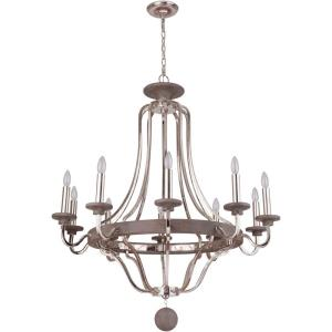 Ashwood - Ten Light Chandelier - 38.5 inches wide by 40 inches high