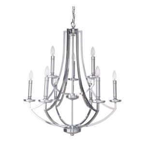 Hayden - Nine Light 2-Tier Chandelier