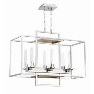 Cubic - Six Light Linear Chandelier