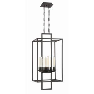 Cubic - Six Light Foyer - 15.5 inches wide by 35 inches high