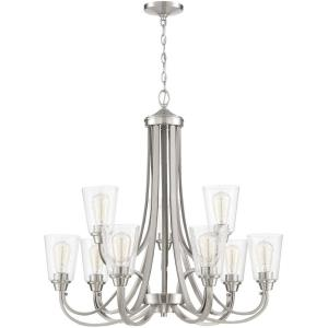 Grace - Nine Light Chandelier in Transitional Style - 32 inches wide by 31 inches high