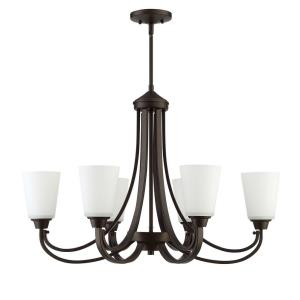 Grace - Six Light Linear Chandelier - 18 inches wide by 22 inches high