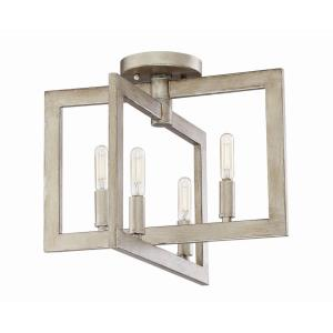 Portrait - Four Light Semi-Flush Mount - 14.5 inches wide by 12 inches high