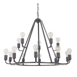 Arc - Fifteen Light 2-Tier Chandelier
