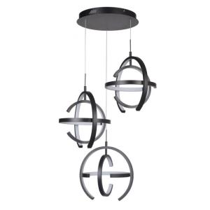 Dolby - 249W 3 LED Pendant - 29.5 inches wide by 16.5 inches high